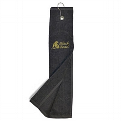 Golf Velourstuch mit Black Bear Logo Gold